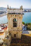 Mediterranean, peniscola village views from the castle of Papa Stock Photography