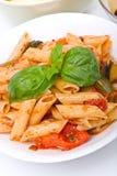 Mediterranean penne pasta Stock Photography