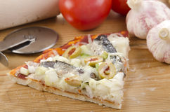 Mediterranean pizza with anchovies Stock Photo