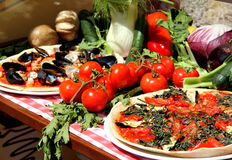 Mediterranean pizza with sea products and mussels Royalty Free Stock Images
