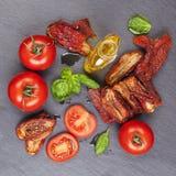 Mediterranean pomodoro background. Stock Photography