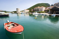 Mediterranean port in small town Stock Photography
