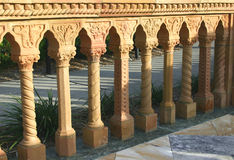 Mediterranean Railing. Ornate railing of Mediterranean columns, each one different in design royalty free stock images