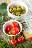Mediterranean recipe Stock Image