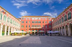 Mediterranean (Republic) Square in the City of Split Royalty Free Stock Images