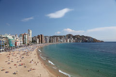 Mediterranean resort Benidorm Stock Images