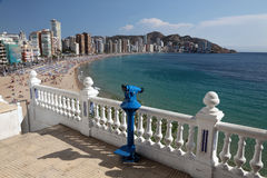 Mediterranean resort Benidorm Stock Photography