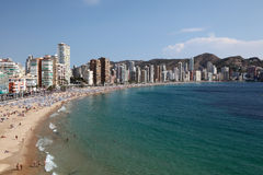 Mediterranean resort Benidorm Stock Photo