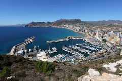 Mediterranean Resort Calpe Royalty Free Stock Photography