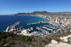 Mediterranean Resort Calpe Royalty Free Stock Photography