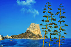Mediterranean Resort Calpe, Costa Blanca Royalty Free Stock Images