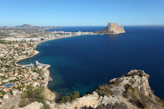 Mediterranean resort Calpe, Spain Royalty Free Stock Images