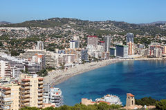 Mediterranean resort Calpe, Spain Stock Photos