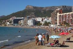 Mediterranean resort Calpe, Spain Royalty Free Stock Images