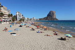 Mediterranean resort Calpe, Spain Stock Image