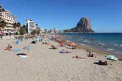Mediterranean resort Calpe, Spain Stock Image