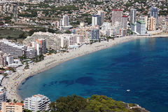 Mediterranean resort Calpe, Spain Royalty Free Stock Photography