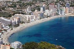 Mediterranean resort Calpe, Spain Royalty Free Stock Photography