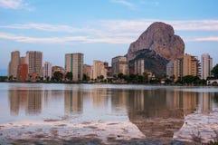 Mediterranean resort Calpe in Spain Royalty Free Stock Photos