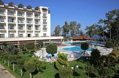 Mediterranean resort hotel in Turkey Stock Image