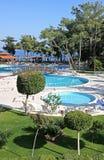 Mediterranean resort hotel in Turkey Royalty Free Stock Photography