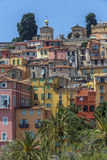 Mediterranean resort of Menton - French Riviera Stock Photography
