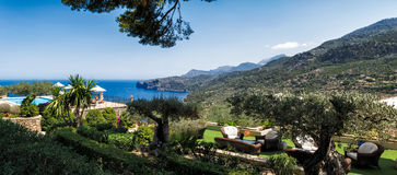 Mediterranean resort by the sea Royalty Free Stock Images