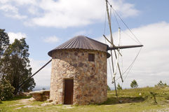Mediterranean Restored Rocky Mill - Portugal, Europe Stock Photo