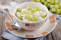 Mediterranean rice pudding with grape Royalty Free Stock Images