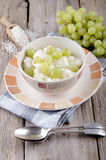 Mediterranean rice pudding with grape Stock Image