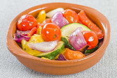 Mediterranean Roasted Vegetables Stock Photos