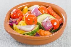 Mediterranean Roasted Vegetables Stock Photos