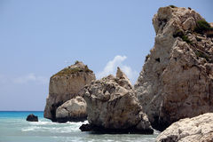 Mediterranean rock shore. Stock Image