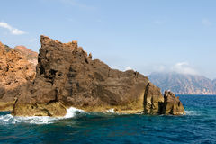 Mediterranean rocky coast Royalty Free Stock Images
