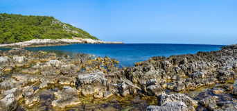 Mediterranean rocky shores Royalty Free Stock Images
