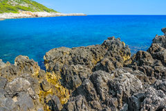 Mediterranean rocky shores Stock Photos