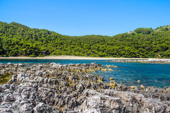 Mediterranean rocky shores Stock Image