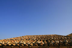 Mediterranean roof and sky Royalty Free Stock Photography