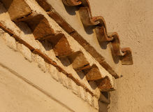 Mediterranean roof tiles Stock Photo