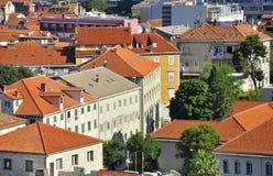 Mediterranean roofs. In Dalmatia, Croatia Royalty Free Stock Photography