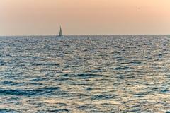 Mediterranean Sailing Sea Sunset Stock Photos