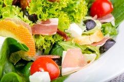 Mediterranean salad. Closeup of fresh Mediterranean salad royalty free stock photography