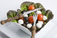 Mediterranean Salad. On white background Royalty Free Stock Image