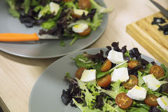 Mediterranean salad close up Stock Photo