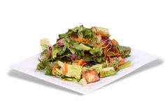 Mediterranean Salad. Fattoush Lebanese Salad on a square plate Royalty Free Stock Images