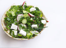 Mediterranean Salad with Feta Cheese. Royalty Free Stock Photo