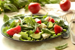 Mediterranean salad with feta Stock Images