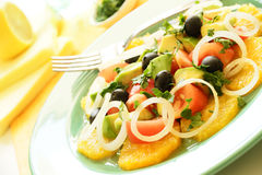Mediterranean salad horizontal Royalty Free Stock Photo