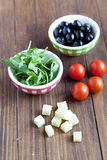 Mediterranean salad ingredients Royalty Free Stock Photo
