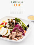 Mediterranean salad and mixed green Royalty Free Stock Photography